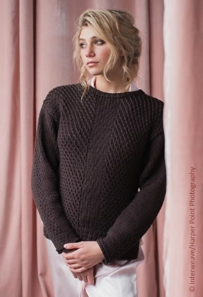 Pebble Pullover by Susanna IC, photo © Interweave/Harper Point