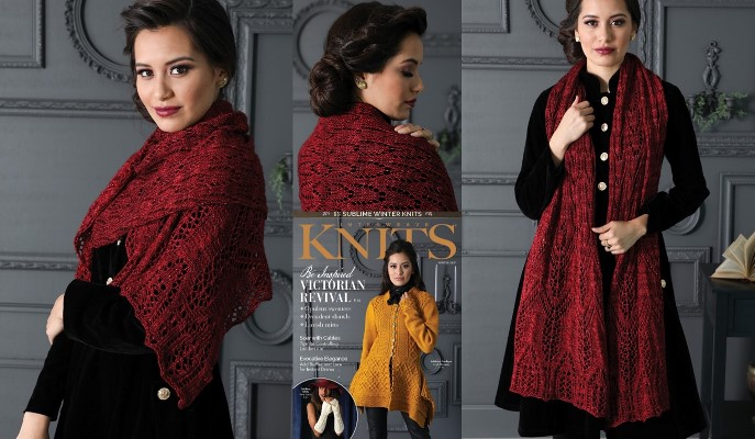 Lucy Westenra's Wrap by Susanna IC; Photo © Interweave Knits