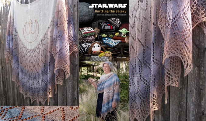 The Rebel Alliance Shawl by Susanna IC; Photo © Insight Editions