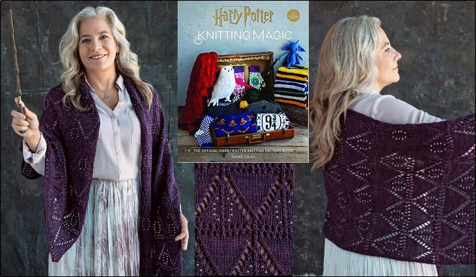 The Deathly Hallows Shawl by Susanna IC; Photo © Insight Editions