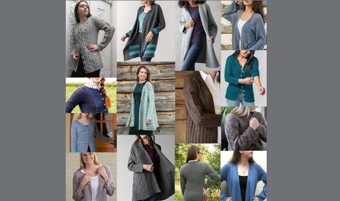 Cardigan KAL by Susanna IC; Photo © ArtQulia Designs by Susanna IC