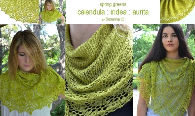 Calendula, Iridea and Aurita by Susanna IC; Photo © ArtQulia Designs by Susanna IC