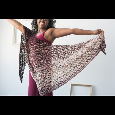 Alla Prima Shawl by Susanna IC, Zen Yarn Garden Inc - Impressionist Collection, photo © Gale Zucker Photography