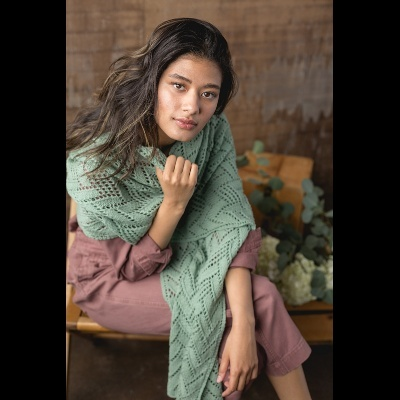 Autumn Rain Shawl by Susanna IC, Interweave Knits, Fall 2019, photo © Interweave
