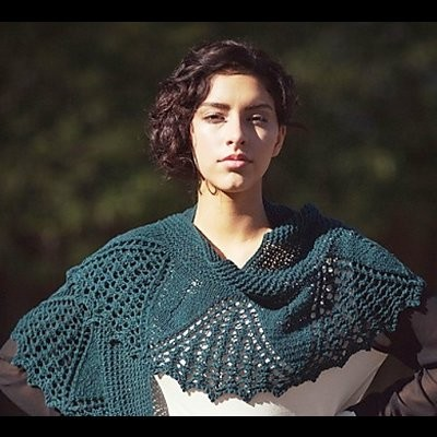 Catlett Shawl by Susanna IC, photo © Interweave Knits 2016