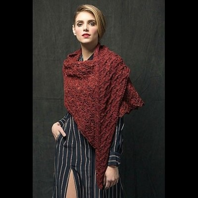 Entwined Shawl by Susanna IC, photo © Interweave/Harper Point