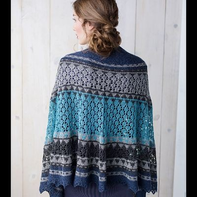 Oshara Shawl Mystery Knit-A-Long by Susanna IC, photo © Interweave