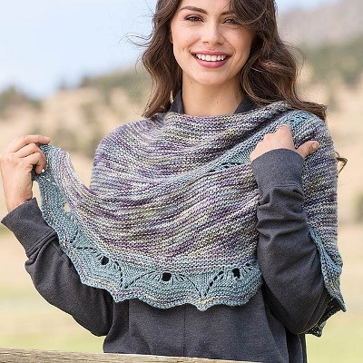 Tarfala Valley Shawl by Susanna IC, photo © Interweave/George Boe