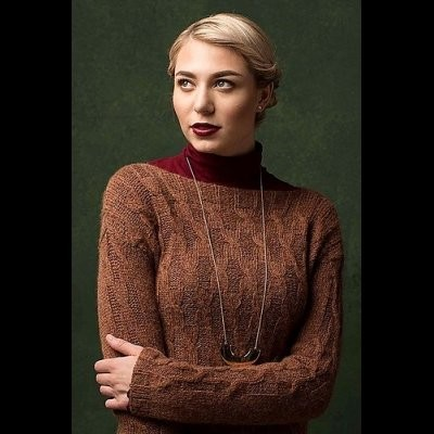 Thorvaldsen Pullover by Susanna IC, photo © Interweave/Harper Point