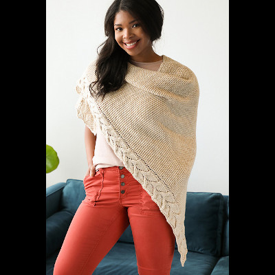 Dolomite Shawl by Susanna IC, Published in Quick + Easy Knits, No. 1, photo © Interweave