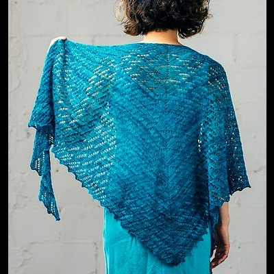 Lluvia Shawl by Susanna IC, designed for Manos del Uruguay, featuring Manos del Uruguay's yarn, photo © Fairmount Fibers, Ltd.