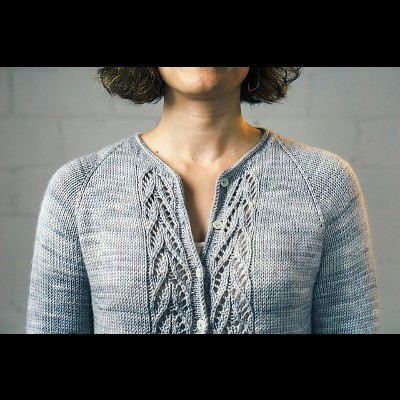 Meseta Cardigan by Susanna IC, designed for Manos del Uruguay, featuring Manos del Uruguay's yarn, photo © Fairmount Fibers, Ltd.