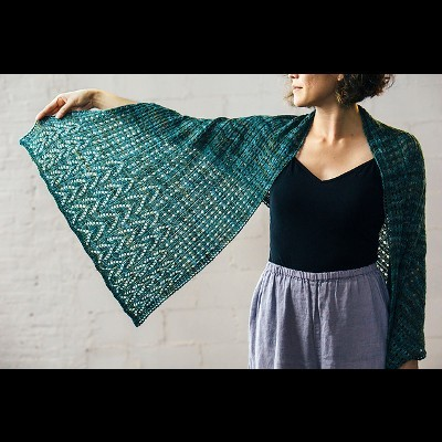 Ombu Stole by Susanna IC, designed for Manos del Uruguay, featuring Manos del Uruguay's yarn, photo © Fairmount Fibers, Ltd.